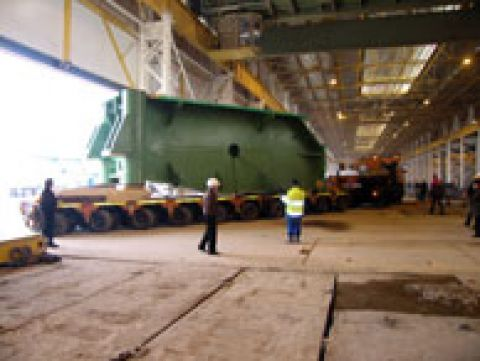 Giant Pipe Press for Baltic Sea Pipeline / Russia